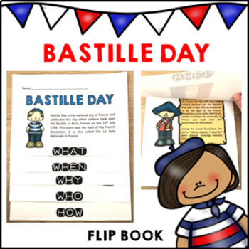Bastille Day Flip Book National Day of France