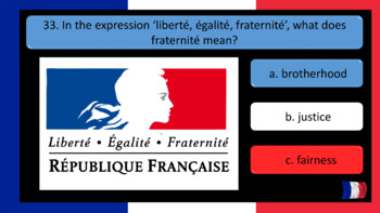 Bastille Day ( La Fête Nationale) and the French Revolution 40 Question Quiz