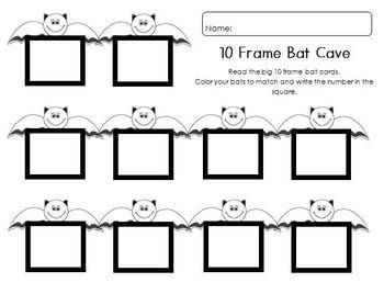 Bat 10 Frames Math Station