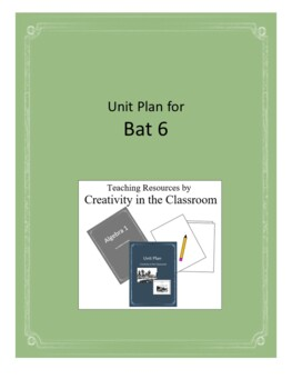 Bat 6 Novel Unit Plus Grammar