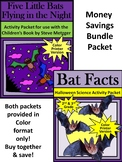 Bat Activities: Five Little Bats & Bat Facts Halloween Activity Bundle - Color