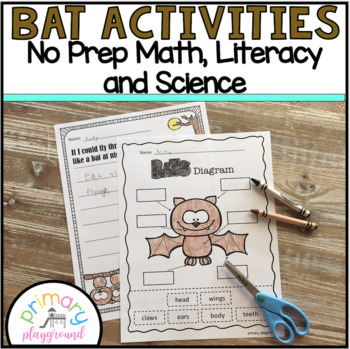 Bat Activities No Prep Math, Literacy and Science Pack