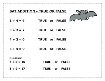 Bat Addition: True or False