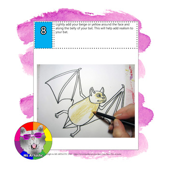 Halloween Bat Art Lesson for Primary