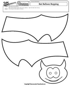 Halloween: Bat Balloon Bopping