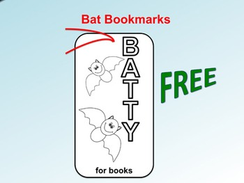 FREE Bat Bookmarks (To Color)