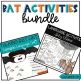 Bat Bundle: Low Prep Language Activities (National Bat Day)