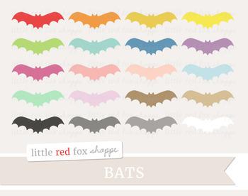 Bat Clipart; Vampire Bat, Halloween, Animal