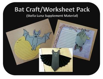 Bat Craft/Worksheet Pack (Stella Luna Supplement Material)