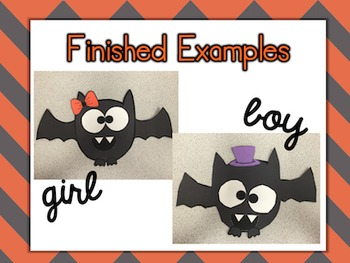 Bat Craftivity Freebie {Halloween Fun} {Girl and Boy Versions}