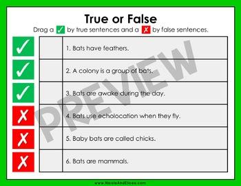 Bat Reading Comprehension for Google Classroom