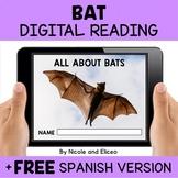 Bat Reading Comprehension for Google Classroom - Distance