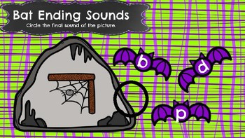 Bat Ending Sounds-A Digital Literacy Center