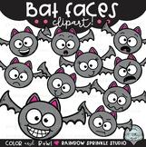 Bat Faces {bat clipart}