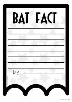 Bat Facts Banner {Bunting, Garland, Pennant Display}