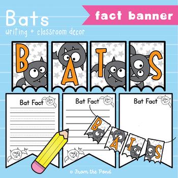 Bat Facts Banner {Bunting, Garland, Pennant Display}