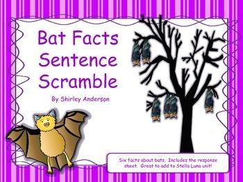 Bat Facts Sentence Scramble