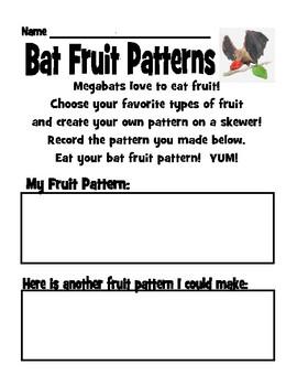 Bat Fruit Patterns FREEBIE