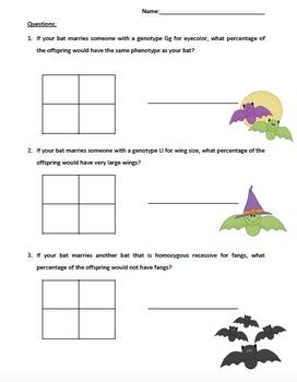 Bat Genetics Lab - Halloween Theme