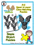 Bat - Halloween - Alphabet / Letter Puzzles - Simple Objects