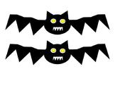Bat Halloween Autumn Kindergarten Art Project Cut Out Past
