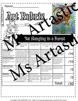 Bat in a Forest Art Lesson