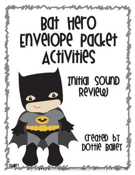 Bat Hero Envelope Activities - Initial Sounds