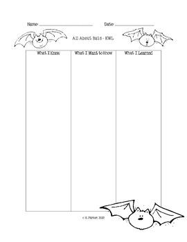 Bat KWL Graphic Organizer