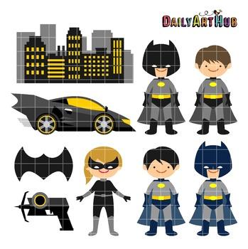 Bat Kids Clip Art - Great for Art Class Projects!