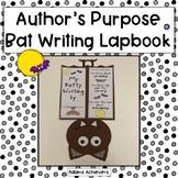 Bat Lapbook with Author's Purpose PIE Writing