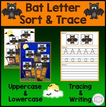 Halloween Bat Letter Sort & Trace