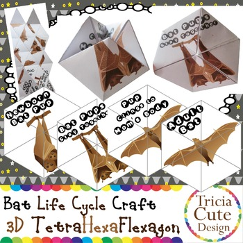 Bat Life Cycle Halloween Craftivity–3D Kaleidocycle(Science Lesson)