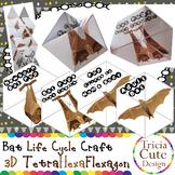 Bat Life Cycle Halloween Craftivity–3D Kaleidocycle(Scienc