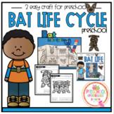 Bat Life Cycle Crafts 2 for Preschool