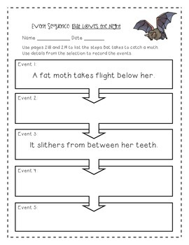 Bat Loves the Night Activities 3rd Grade Journeys: Unit 2, Lesson 6