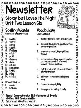 Bat Loves the Night Journey's Supplemental Activities -- Third Grade Lesson 6