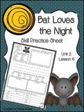 Bat Loves the Night (Skill Practice Sheet)