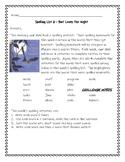 Bat Loves the Night - Spelling Activities - Journeys 3rd g
