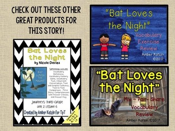 Bat Loves the Night: Virtual Evidence Bag Journeys 3rd Grade Lesson 6