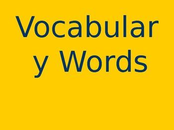 Bat Loves the Night - Vocabulary