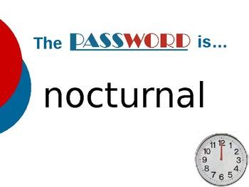 Bat Loves the Night - Vocabulary Password