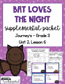 Bat Loves the Night - Vocabulary Study Guide