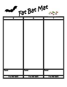 Bat Math Center Games