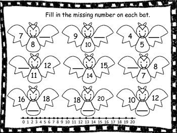 Bat Math Freebie