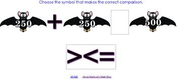 Bat Math for 2nd Grade: Interactive Math FREEBIE