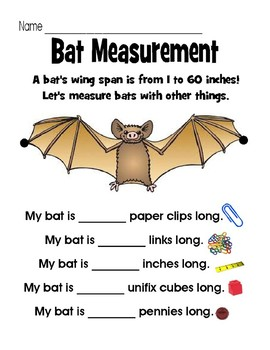 Bat Measurement FREEBIE