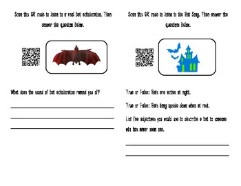 Bat Mini-Book - Using QR Codes to Explore Bats