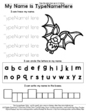Bat - Name Tracing & Coloring Editable Sheet - #60CentFind