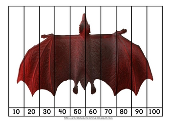 Bat Number Order and Skip Counting Puzzles
