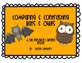 Bat & Owl Expository Fall Writing Activity